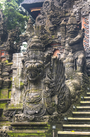 One of the many temples Ubud, one of the famous landmarks on the island of Bali in Indonesia