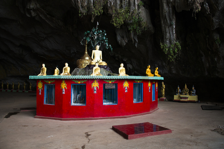 Religious statues in the Sadan cave near Hpa-An in Myanmar Фото со стока - 120168065