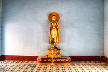 Buddha statue in one of the temples in Bagan, a historical site in Myanmar Editorial