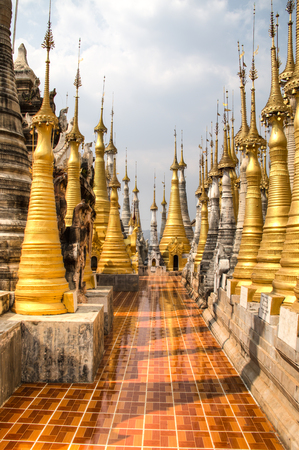 Ancient temple near Inle Lake, one of the top tourist attractions of Myanmar