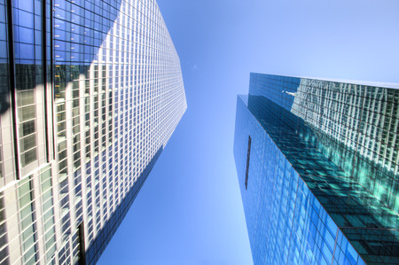 Skyscrapers in downtown Manhattan in New York City, USA