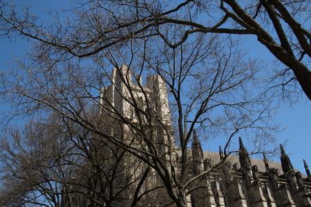 Historic church in downtown Manhattan in New York City, USA