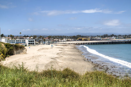 SANTA CRUZ, USA – MAY 2018: A beach near Santa Cruz city on highway number 1 in central California, USA