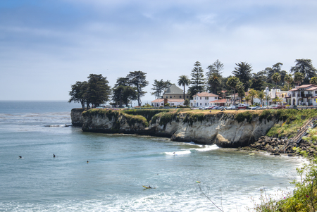 A beach near Santa Cruz city on highway number 1 in central California, USA