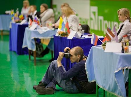 jurado: Deportes photogapher en jurado. Gimnastics abrir torneo. 16 al 17 de diciembre de 2011, Lviv, Ucrania
