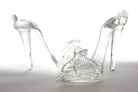 cinderella shoes: flip-flops made from glass