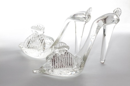 ritzy: flip-flops made from glass