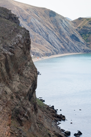 Camping on the beach down the mountain, Crimea peninsula, Ukraine Stock Photo - 17044630