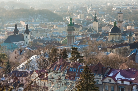 The historical centre of the city of Lviv. Western Ukraine Stock Photo
