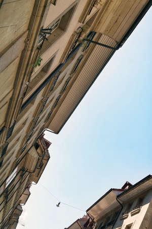 the beautiful architecture of the city center of Bern, Switzerland Stock fotó - 158498601