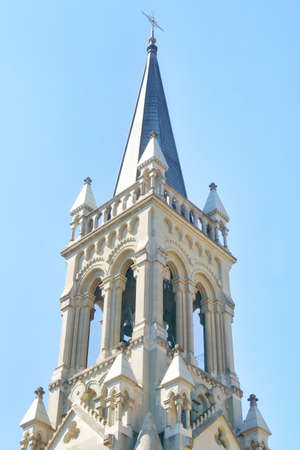 the beautiful architecture of the christkatholische kirche church in the city center of Bern, Switzerland
