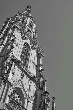 the beautiful architecture of the Berner Münster cathedral in the old town of Bern, Switzerland Stock fotó - 158780467