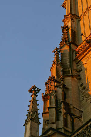 The Beautiful details of the Berner Münster cathedral. At the city center in the old town of Bern, Switzerland Banque d'images