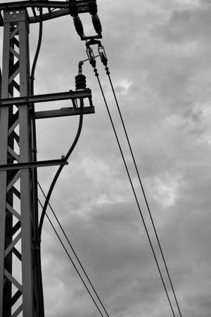 power lines near the train tracks. at the Bahnstadt in Heidelberg, Germany