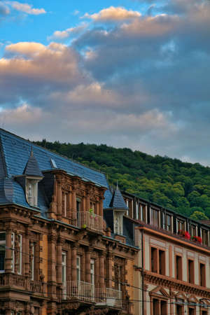 The beautiful streets of the city center in Heidelberg, Germany