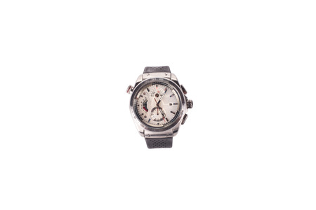 chronograph: modern watch isolated on a white background