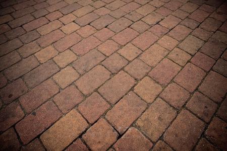road surface: Brick road surface texture.