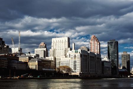 newyork: NewYork City panorama with Manhattan Skyline on cloudy day.