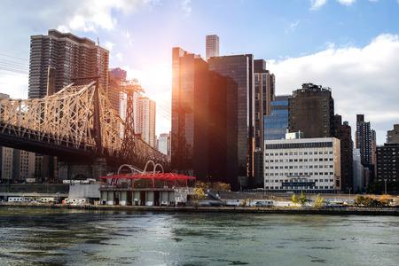 newyork: NewYork City panorama with Manhattan Skyline r on cloudy day.