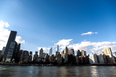 newyork: NewYork City panorama with Manhattan Skyline on sunny day.