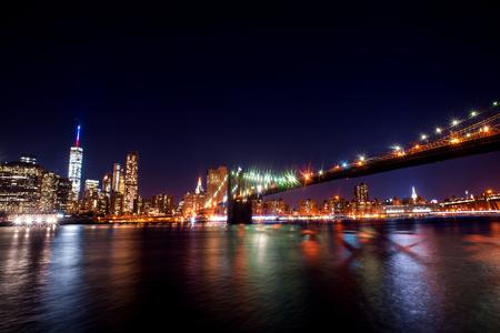 midtown manhattan: New York City skyline at Night Lights, Midtown Manhattan.