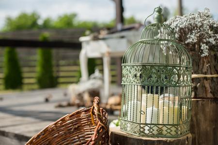 birdcage: Vintage birdcage. Wedding decor idea.