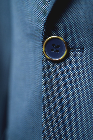 Close up of classic business attire with tie and elegant blazer. Stock Photo