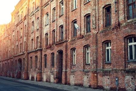 windows on old building. may be used as background. Stock Photo