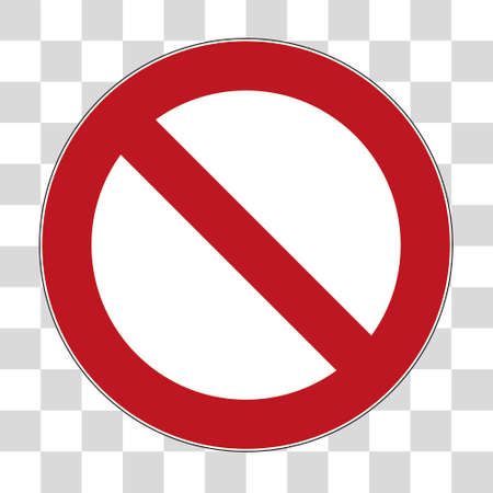 Prohibition sign against white background