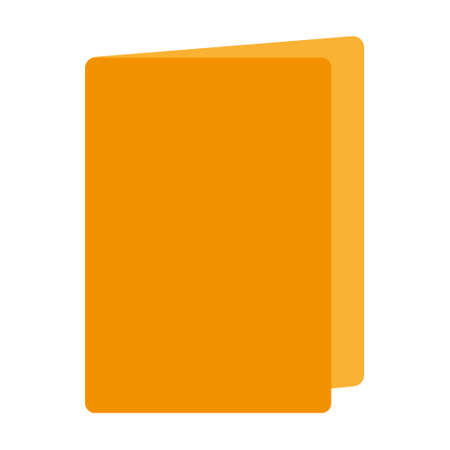 Yellow folder against white background