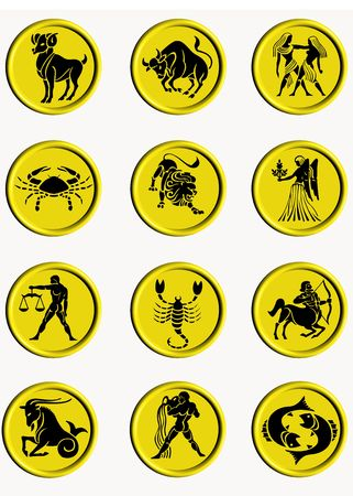 buttons signs of the zodiac