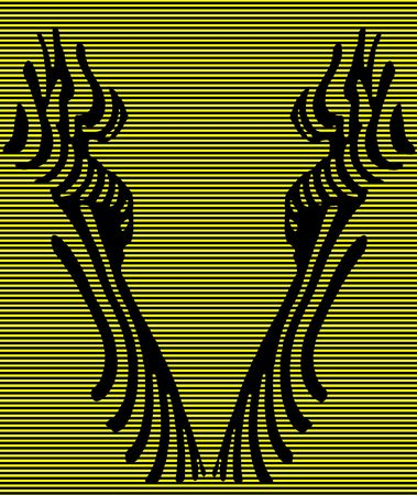 Visitation in a photo of the naked woman in optical art