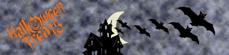 Web banner for halloween holiday
