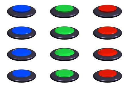 buton round set 3d Stock Photo - 3578206