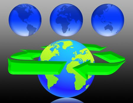 illustration on the concept of protection of the earth illustration
