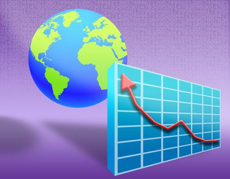 illustration on the concept of evolution of the global economy Stock Illustration - 5122611
