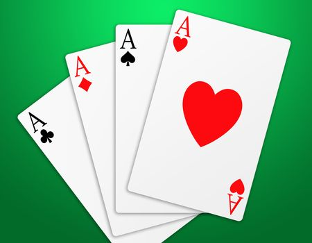 Illustration of the four aces signs poker illustration
