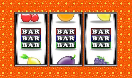 slots: s�mbolos alineados y ganar en tragaperras Foto de archivo