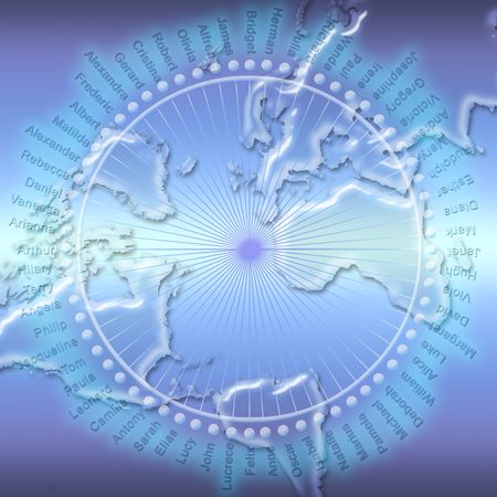 Conceptual image of global communication and social network Stock Photo - 5144129