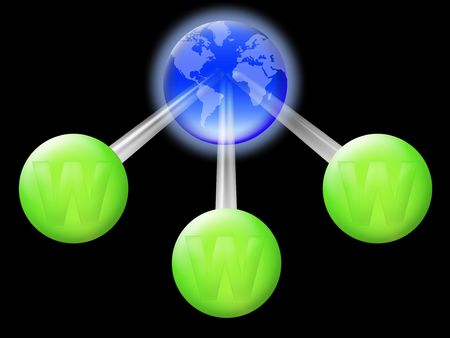 Conceptual illustration of the worldwide web address  illustration