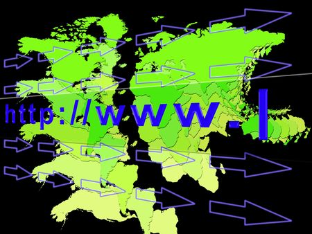 Conceptual illustration of the worldwide web address  Stock Illustration - 5144199