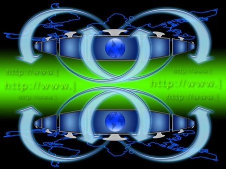 Conceptual illustration of the worldwide web address Stock Illustration - 5144198