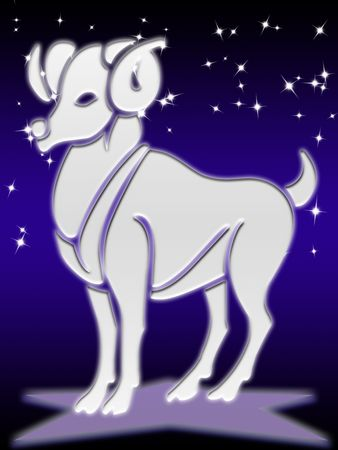 aries greeting card of zodiac sign photo