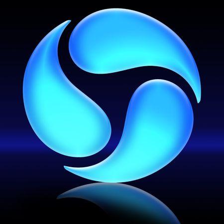ecology symbol on black background