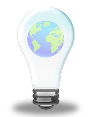 lamplight: illustration on the concept of global warming