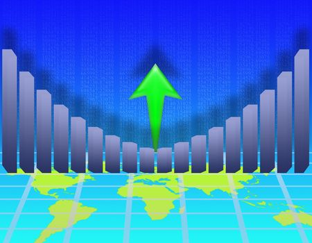illustration on the concept of economic growth Stock Illustration - 5213344