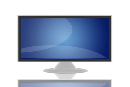 audiovisual: Flat LCD tv Liquid-Crystal Display