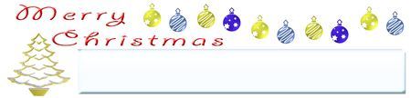 Illustration of Christmas for web banners or graphics