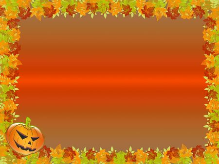 Halloween. frame or background with pumpkins. You can customize the free space Stock Photo - 5432681