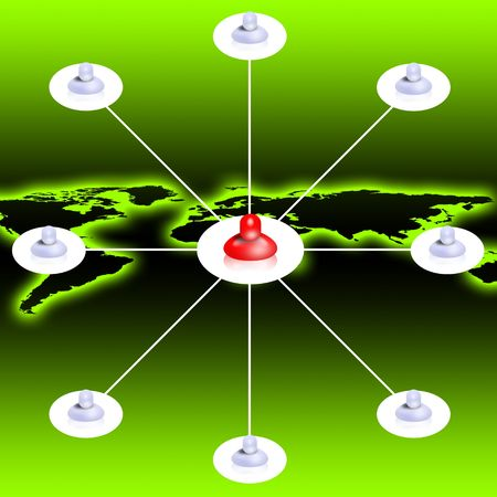 Global social network concept Stock Photo - 7037606